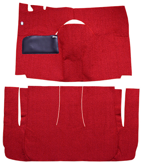 1958 Ford Ranch Wagon Carpet Replacement - Loop - Complete | Fits: 2DR, Standard Seats, Cut & Sewn