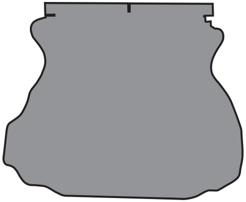1994-2004 Ford Mustang Trunk Mat - TM Felt | Fits: Coupe
