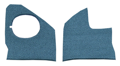 1961-1964 Chevy Impala Kick Panel Carpet Replacement - Loop | Fits: with Air, Inserts