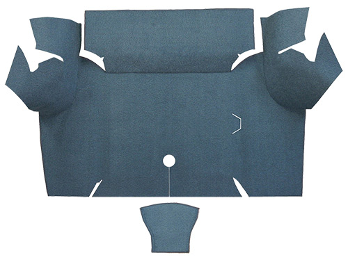 1967-1968 Ford Mustang Trunk Mat - Nylon | Fits: Coupe, Trunk Kit Floor Only