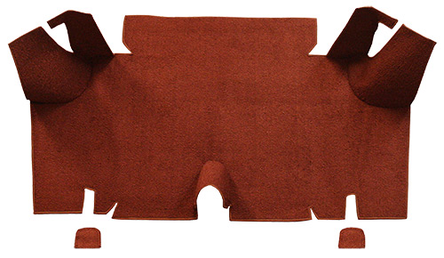 1965-1966 Ford Mustang Trunk Mat - Nylon | Fits: Fastback, Trunk Kit Floor Only