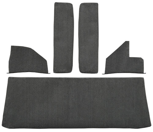 1959 Chevy 3C 3400 Rear Cab Wall Carpet Replacement | Fits: Rear Cab Wall Door & Kick Panels