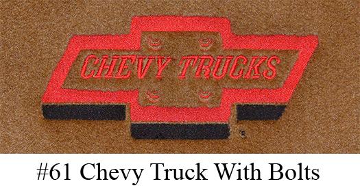 1955-1958 Chevy Truck Floor Mats - 2pc - Loop