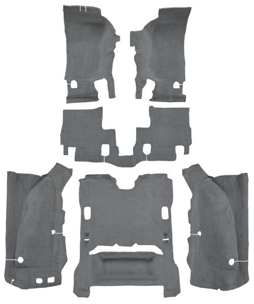 2007-2010 Jeep Wrangler Carpet Replacement - JK - Cutpile - Complete | Fits: 2DR, Complete