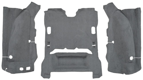 2007-2010 Jeep Wrangler Carpet Replacement - JK - Cargo Area - Cutpile   Fits: 2DR