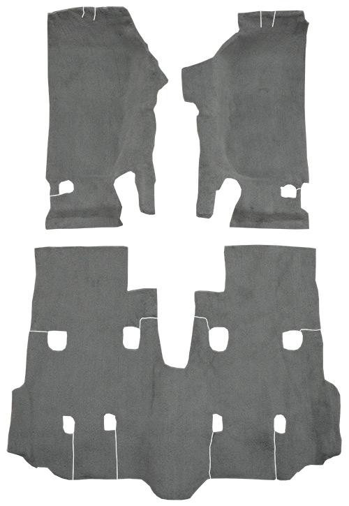 2007-2010 Jeep Wrangler Carpet Replacement - JK - Cutpile - Passenger Area | Fits: 4DR, Unlimited