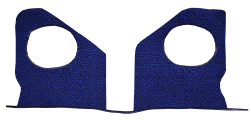 1961-1962 Chevy Impala Kick Panel Carpet Replacement - Tuxedo | Fits: w/o Air, Inserts