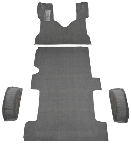 2003-2014 Ford E-250 Carpet Replacement - Cutpile - Complete | Fits: Reg, Fits Gas or Diesel Complete