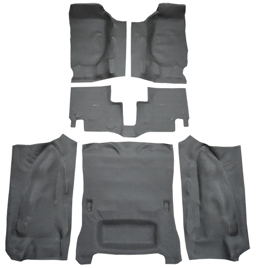2007-2010 Jeep Wrangler Carpet Replacement - JK - Vinyl - Complete | Fits: 2DR, Complete