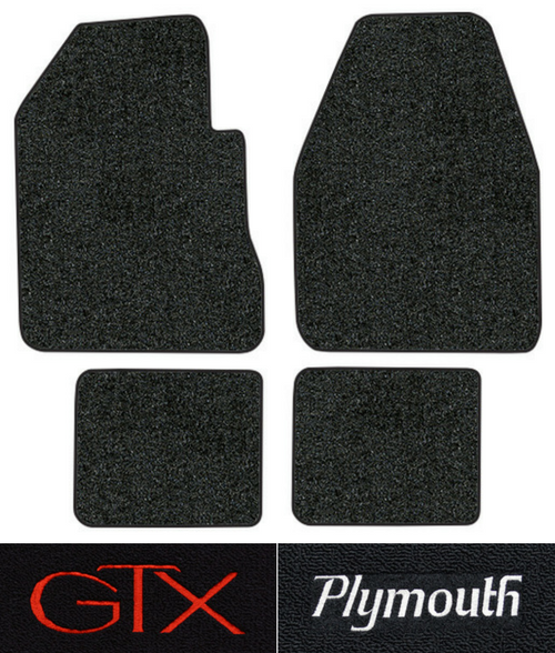 1967-1970 Plymouth GTX Floor Mats - 4pc - Loop | Fits: 4spd