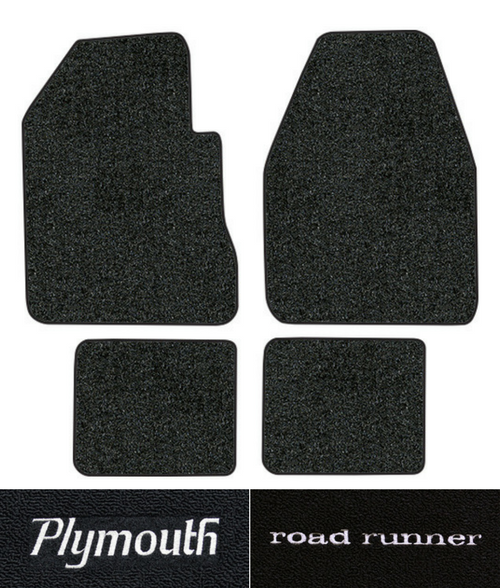1968-1973 Plymouth Roadrunner Floor Mats - 4pc - Loop | Fits: 4spd