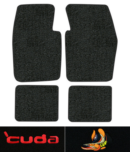1970-1973 Plymouth Cuda Floor Mats - 4pc - Loop