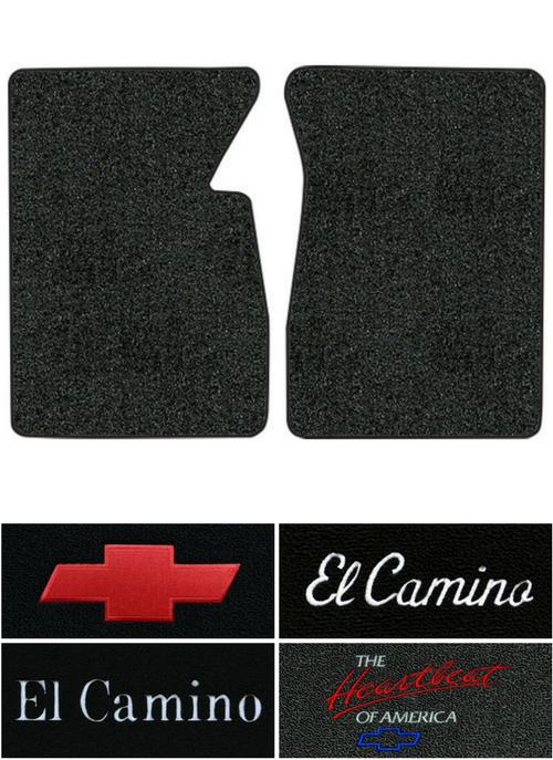 1959-1960 Chevy El Camino Floor Mats - 2pc - Tuxedo