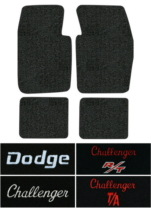 1970 1973 Dodge Challenger Floor Mats 4pc Loop Factory Interiors