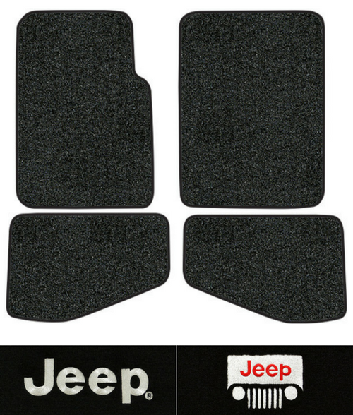 1997-2006 Jeep Wrangler Floor Mats - TJ - 4pc - Cutpile