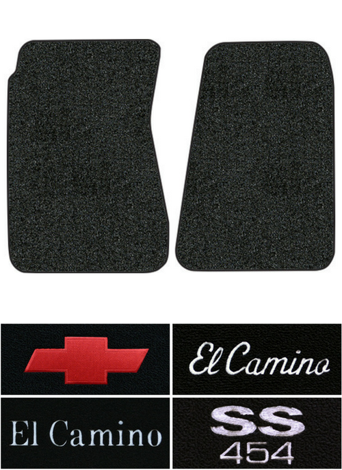 1968-1972 Chevy El Camino Floor Mats - 2pc - Loop