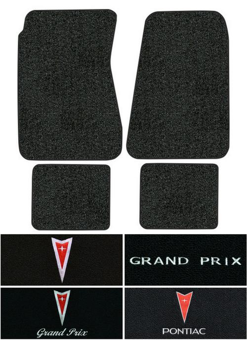 1962-1964 Pontiac Grand Prix Loop Carpet Logo Floor Mat 4pc