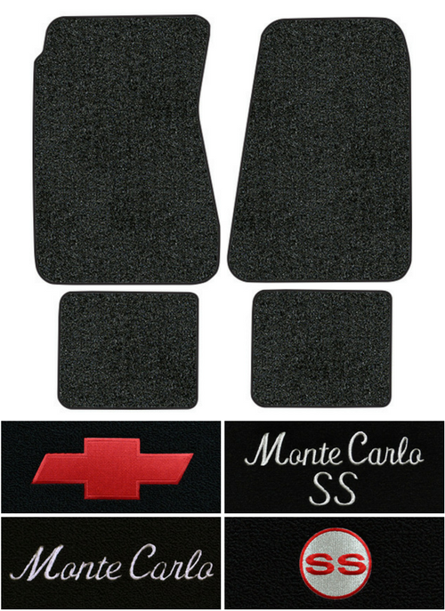 1970-1972 Chevy Monte Carlo Floor Mats - 4pc - Loop