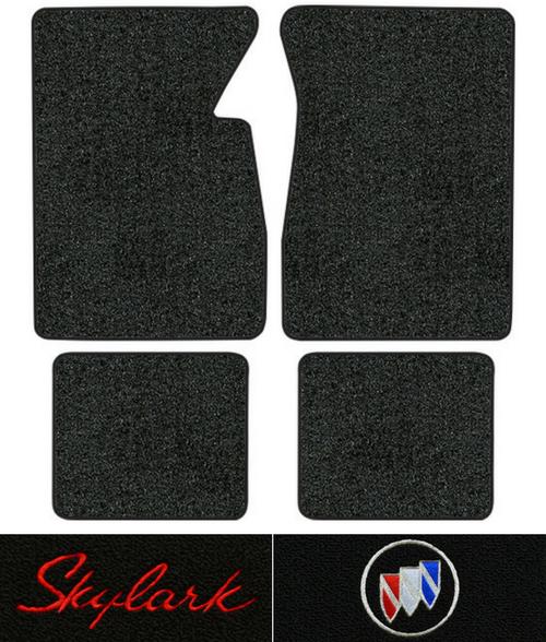 Black CFMBX1BK7258 Coverking Custom Fit Front and Rear Floor Mats for Select Buick Skylark Models Nylon Carpet