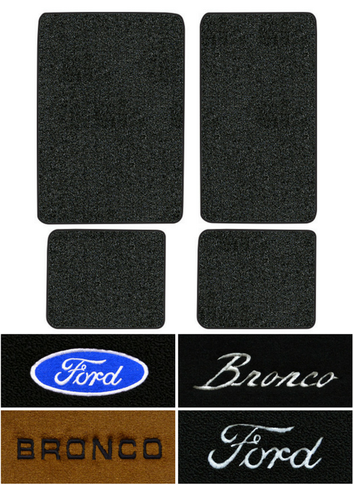 1974 1977 Ford Bronco Floor Mats 4pc Cutpile Factory