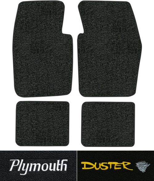 1974 1976 Plymouth Duster Floor Mats 4pc Cutpile