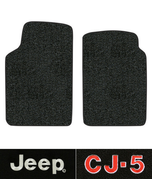 1955-1958 Jeep Willys CJ-5 Floor Mats - 2pc Front - Loop