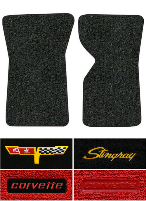 1976 Corvette C3 Floor Mats - 2pc - Cutpile