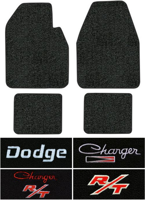 1966-1970 Dodge Charger Floor Mats - 4pc - Loop | Fits: Auto