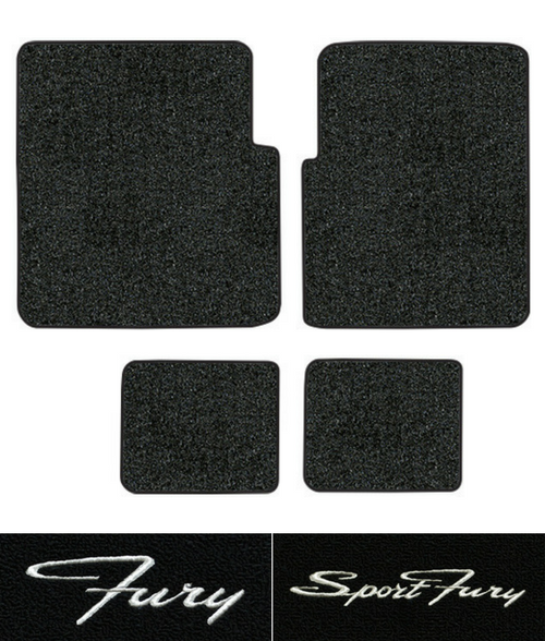 1970-1973 Plymouth Fury Floor Mats - 4pc - Loop