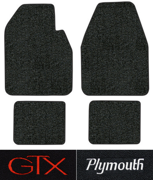 1967-1970 Plymouth GTX Floor Mats - 4pc - Loop | Fits: Auto