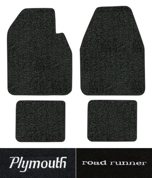 1968-1973 Plymouth Roadrunner Floor Mats - 4pc - Loop | Fits: Auto