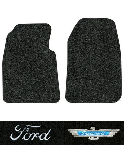 1955 1957 Ford Thunderbird Floor Mats 2pc Loop