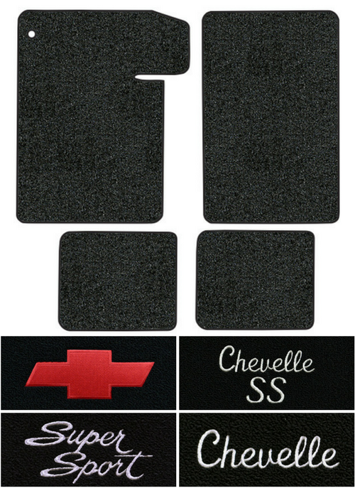 1964-1967 Chevy Chevelle Floor Mats - 4pc - Loop