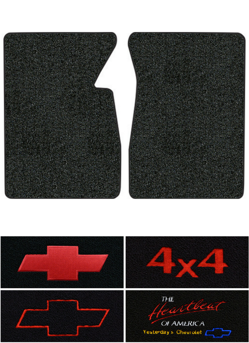 1960-1966 Chevy C10 Pickup Floor Mats - 2pc - Loop