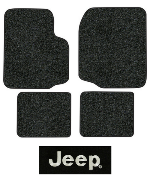 1987-1995 Jeep Wrangler Floor Mats - YJ - 4pc - Cutpile