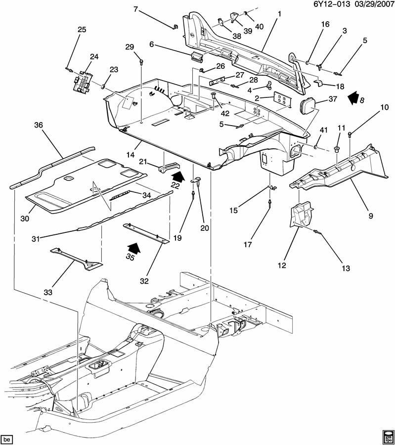 cadillac xlr rear body lh lock pillar 10304574 factory oem parts rh factoryoemparts com Cadillac XLR Performance Parts Cadillac XLR Performance Parts
