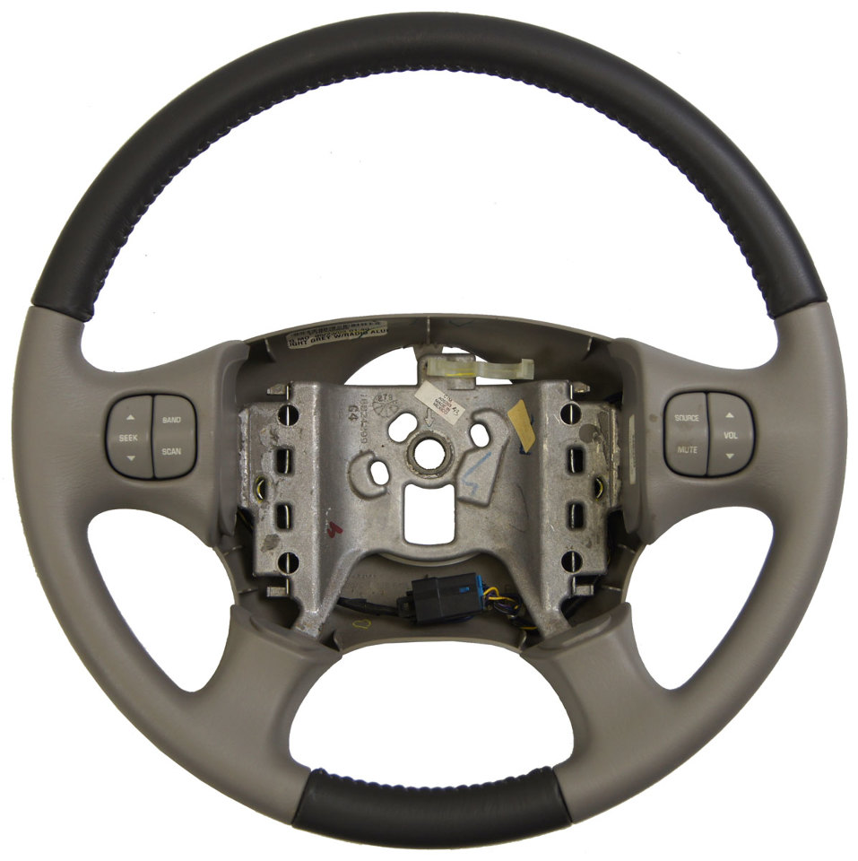 2002-2003 Buick Rendezvous Steering Wheel Two-Tone Grey Leather W/Audio Switches