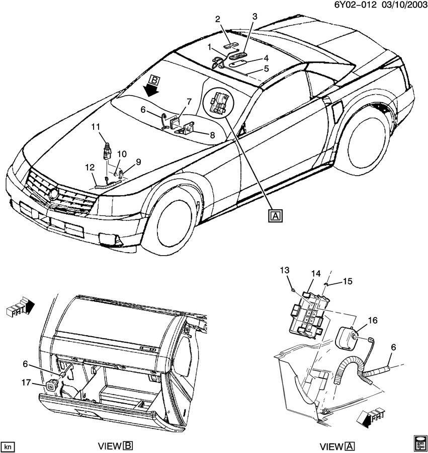 2004 2009 cadillac xlr wire harness theft deterrent rear side object rh factoryoemparts com Cadillac XLR Performance Parts Cadillac XLR Performance Parts