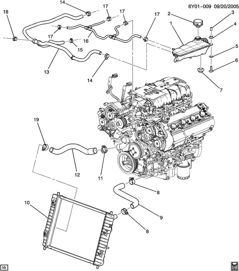 cadillac xlr v upper radiator hose 19129885 factory oem parts rh factoryoemparts com