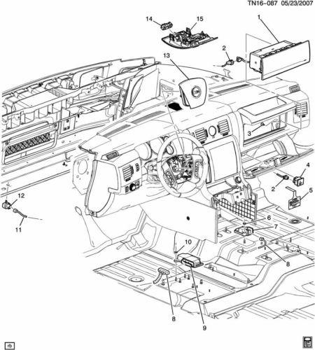 2006 Hummer H2 Airbag Sensor Diagram - Complete Wiring Diagrams •