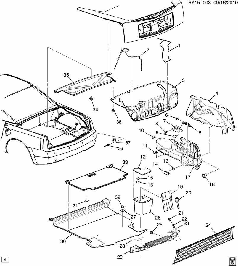 2004 2009 cadillac xlr trunk cargo net clip nut oem new 11609338 rh factoryoemparts com cadillac xlr parts catalog Cadillac XLR Accessories