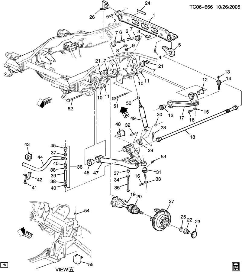 2004 gmc envoy front suspension diagram