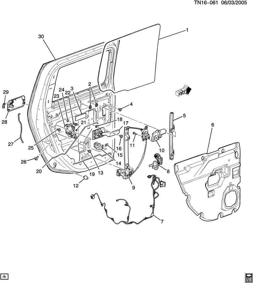 15068268 03 09 hummer h2 right rear door glass channel assembly 15068268 2 hummer h2 door diagram free download wiring diagram