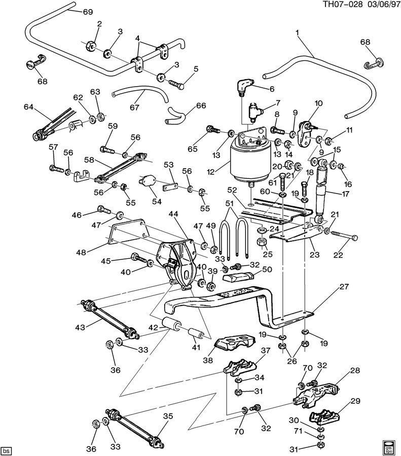 1997 chevy kodiak rear axle arm new