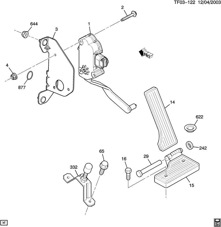2004 09 topkick kodiak t6500 t8500 accelerator pedal assy. Black Bedroom Furniture Sets. Home Design Ideas