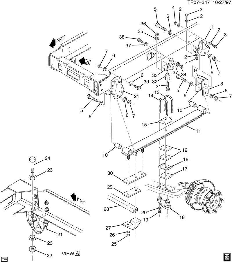 1990 2009 gmc topkick chevy kodiak front rear suspension bump stop rh factoryoemparts com gmc envoy front suspension diagram gmc acadia rear suspension diagram