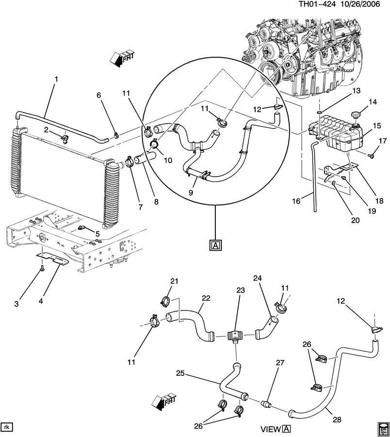 2003 2009 topkick kodiak c4500 lower radiator hose new oem. Black Bedroom Furniture Sets. Home Design Ideas