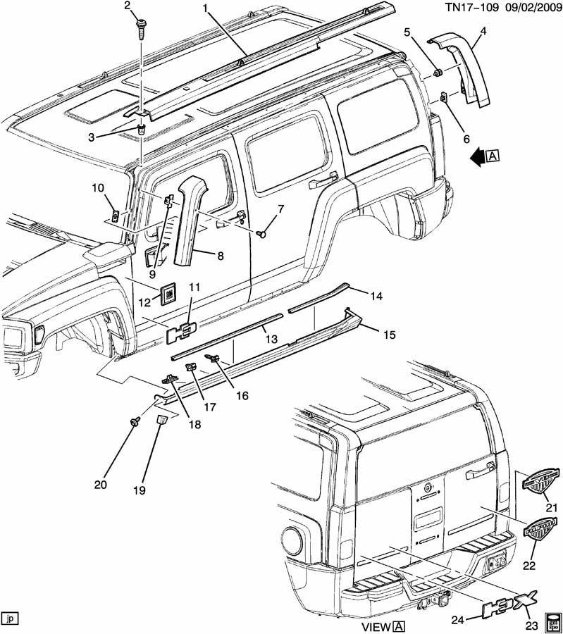 2006 Hummer H3 Parts Diagrams on Hummer H3 Rear Door