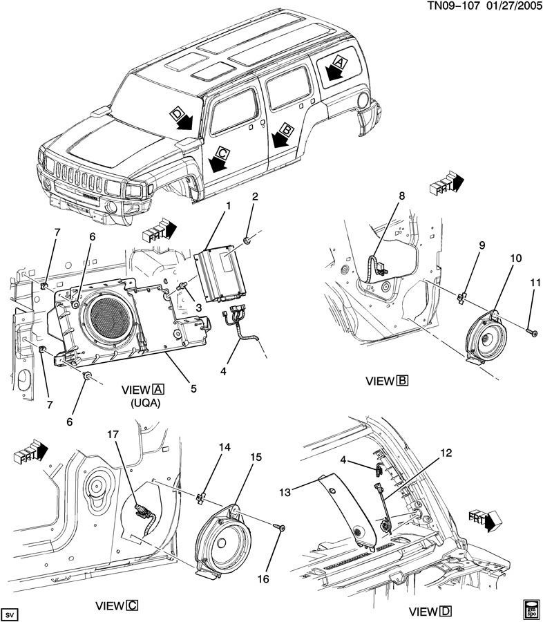 gm wiring diagram tow package caravan wiring diagram tow bars 2006 2010 hummer h3 subwoofer with enclosure new oem