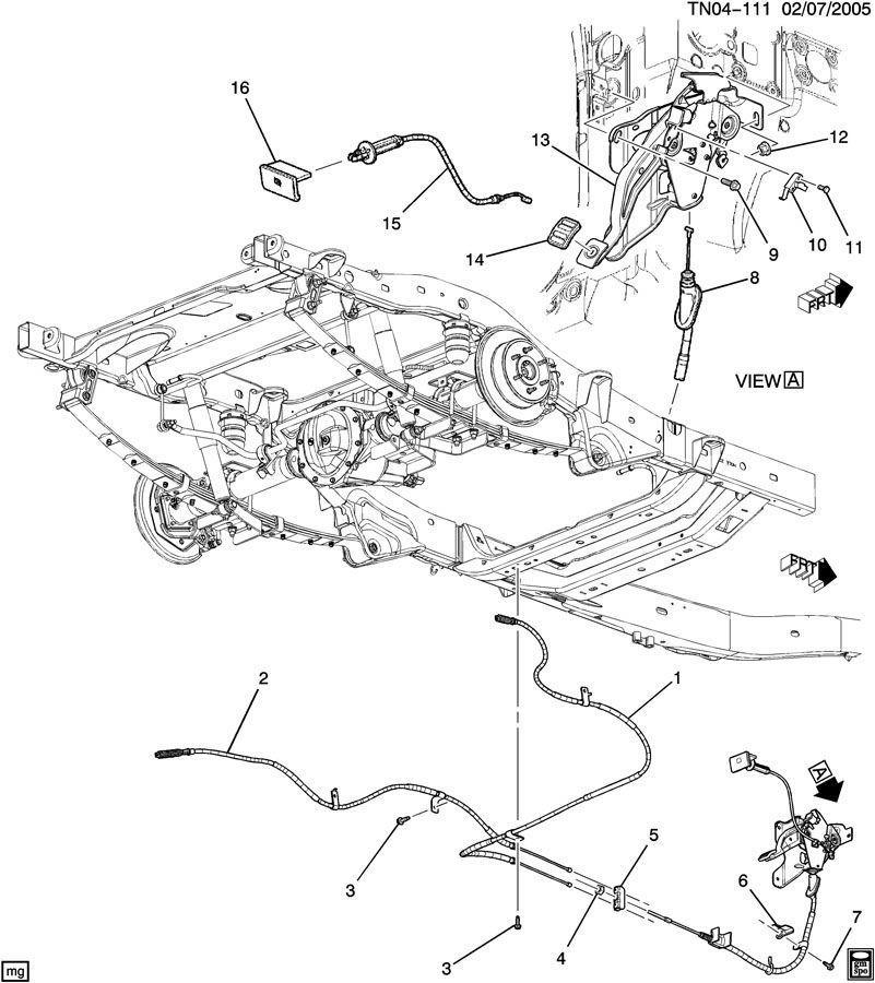 Hummer H Lh E Emergency Park Parking Brake Cable on Dodge Oem Parts Diagram